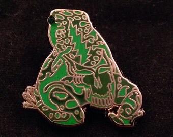 Grateful Dead Poison Dead Frog. Green & Dark Green . Limited edition-50