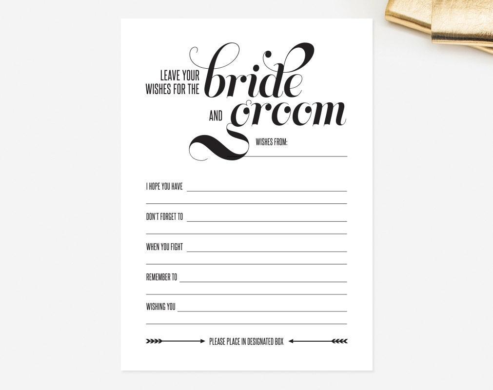 Advice Cards Advice Cards For The Bride & Groom Wedding Advice