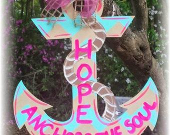 Anchor Door Hanger & Custom patterned Anchor door hanger nautical door hanger Pezcame.Com