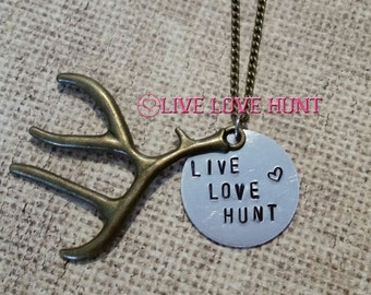Live Love Hunt® Heart and Antler Necklace