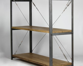 KONK! - 'SLIM' Industrial Bookcase, Tension Wire [Bespoke Sizes Available]