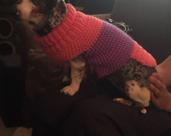 Dog Sweater custom made any size and any color