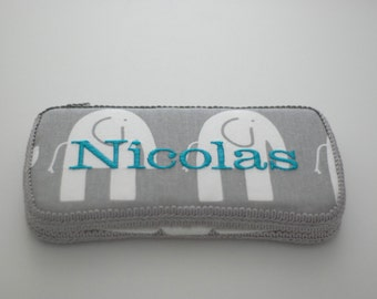 Storm Elephants Personalized Baby Wipes Case