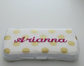 Gold Dots Baby Wipes Case