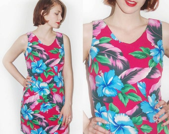 Magenta Tropical Sundress