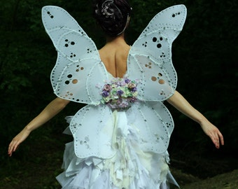 White Butterfly Fairy Wings