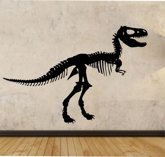 T rex wall decal dinosaur sticker art decor by stateofthewall for T rex bedroom decor