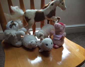 Wool Felted Toys and Sculptures