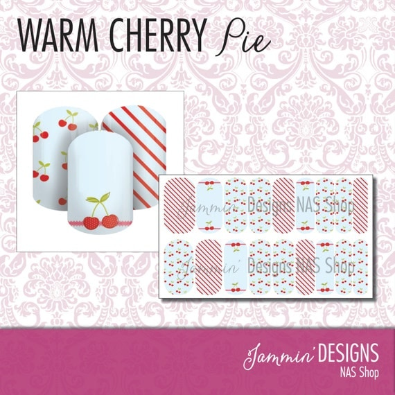Warm Cherry Pie NAS (Nail Art Studio) Design