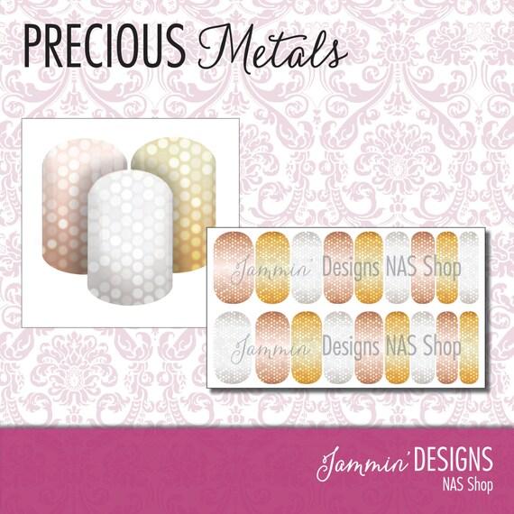 Precious Metals NAS (Nail Art Studio) Design