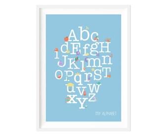 Boys Alphabet print