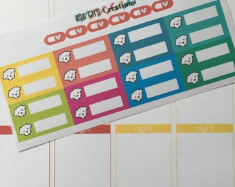 Puppy/Dog Planner Stickers - Heartworm and Reminders