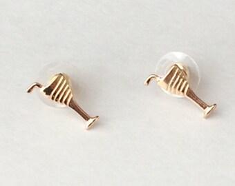Martini Glass Earrings, Stud Earrings, Simple Earrings, Minimalist Earrings, Boho Jewelry, Post Earrings, Boho Chic Jewelry, Free Spirited