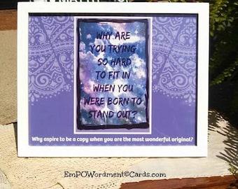 Positivity Framed Print 8x10, gift, encouragement, inspiration, self-esteem, self awareness, quotes for women, teens, direct sellers