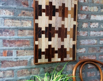 Reclaimed Wood Wall Hanging Collage Art