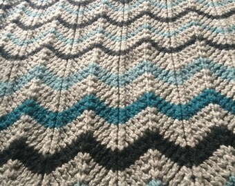 Chevron Stripe Throw - Knitting Pattern