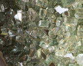 Decorative Filler - 1 LB of Sea Green Fire Glass-Mirror Glass. Great for Terrariums and Plant Top Soil Cover