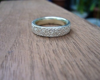 textured organic band ring
