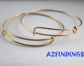 Wire Bangle-Expandable Bangle Bracelet-Charm Bracelet-Adjustable Bangle Bracelet-Gold Bangle-Bronze Bangle-Gold adjustable bracelet