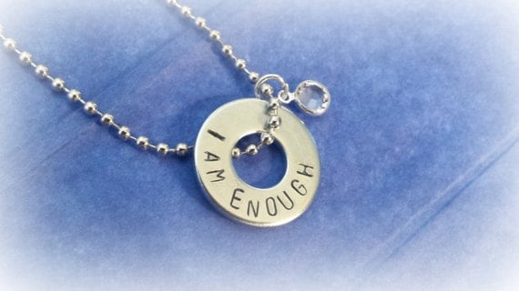 inspirational jewelry i am enough by