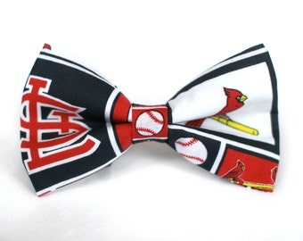St. Louis Cardinals Bow Tie | Baseball Bow Tie | Sports Bow Tie | Baseball Team | Gifts for Him | Bowtie | Kids Baseball Bow Tie