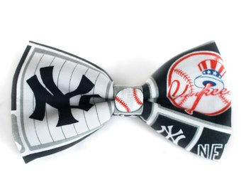 New York Yankees Bow Tie | Bow Tie for Men | For Him | Bowtie | Self Tie | Dog Bow Tie | Mens Bow Tie | Boys Bow Tie | MLB | Sports Bow Tie