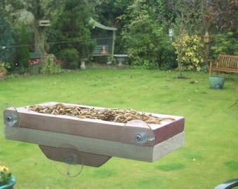 Window Tray Bird Feeder In Wood