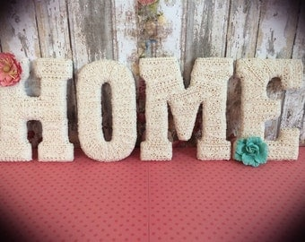 home letters wooden letters country home decor decorative letters shabby chic gift ideas mantle decorgift idea tightly wound designs