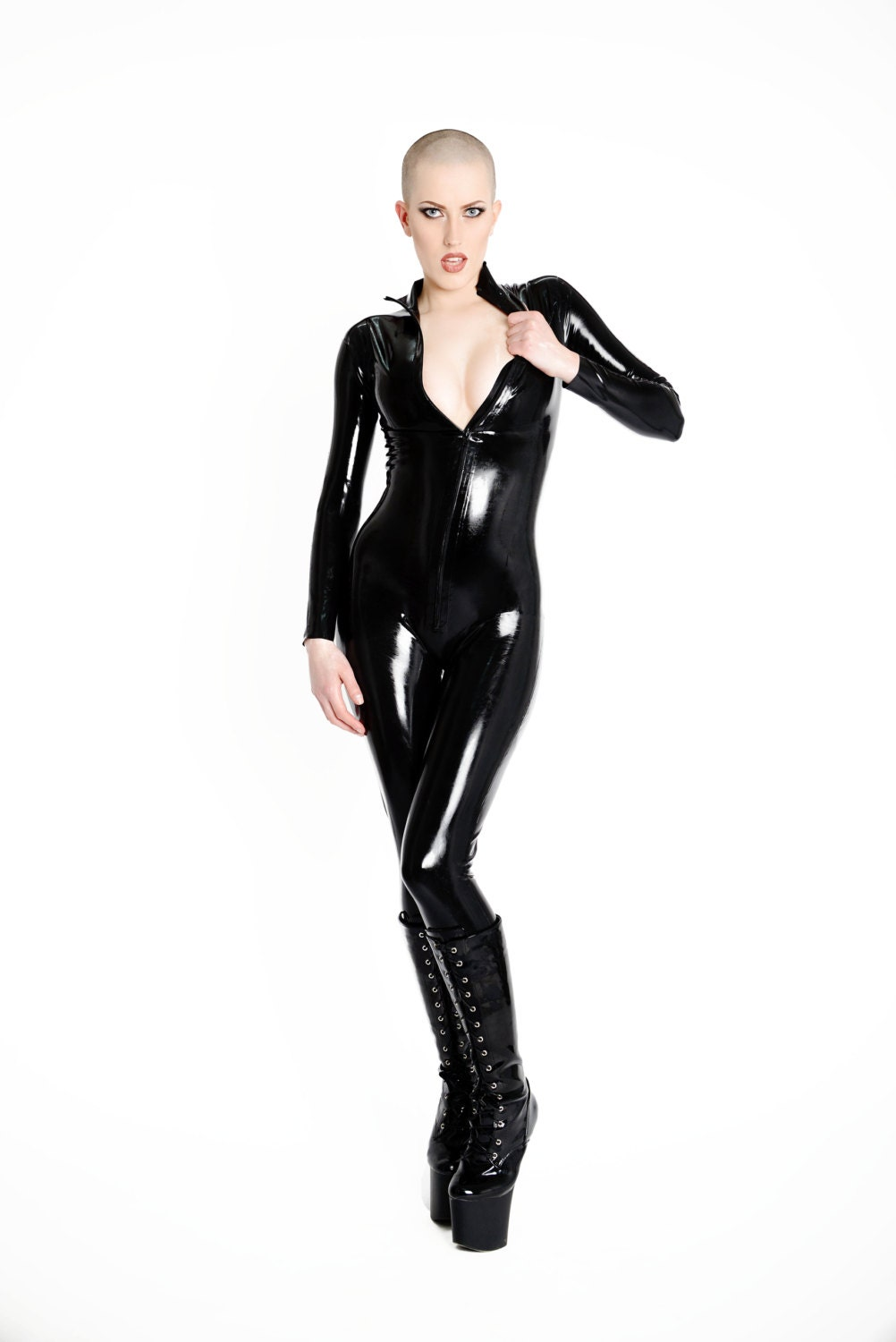 latex catsuit made to measure