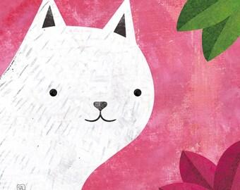 Pink Cat Print