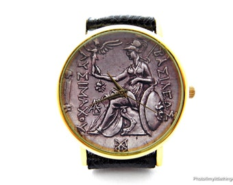 antique ladies watch antique coin coin watch ancient coin old coin unisex watch ladies watch mens watch coin jewelry personalized watch pattern 3
