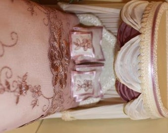 Dollhouse Bed (12th Scale Dressed Canopy Bed)