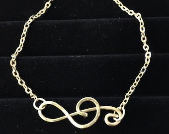 Treble Clef Gold Chain Bracelet