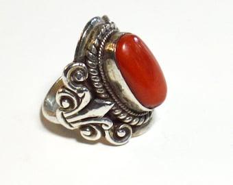 Beautiful Carnelian Ring  size 7
