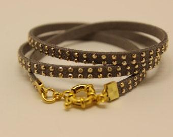 Rhinestone Wrap Bracelet,Layered Leather Bracelet,Triple Wrap Bracelet,Fashion Bracelet,Wrap Bracelet
