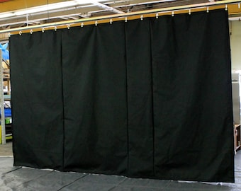 Black Stage Curtain/Backdrop/Partition, 10'H x 20'W, Non-FR, Free Shipping, Custom Sizes Available!