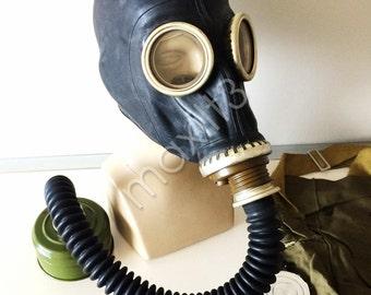 Black gas mask GP-5 with hose black gas mask hose tube