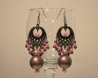 Earrings, Oriental spices.