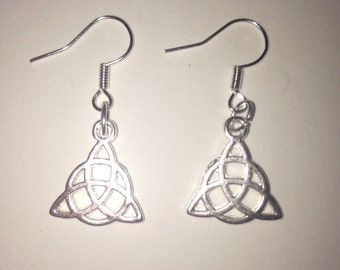 Silver Pagan Trinity Earrings