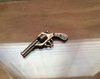 Vintage Little Silver Revolver Gun