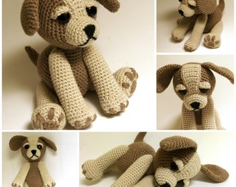 Crochet Pattern - Sammy the Puppy Dog, Crochet dog, crochet Animal, Crochet Puppy, Amigurumi Puppy Pattern, Stuffed dog, Softie