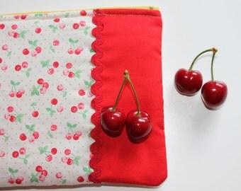 """Pochette imbottita """"Cherries"""""""