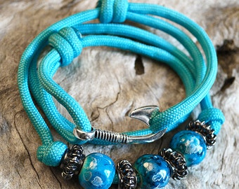 Fish Hook Wrap Bracelet