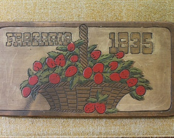 Vintage Wood Strawberry Sign