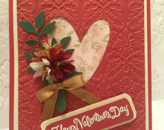 Valentine's Day, Elegant Handmade Greeting Card