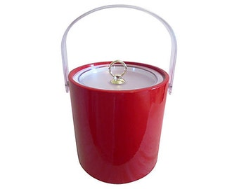 Cherry-Red Ice Bucket