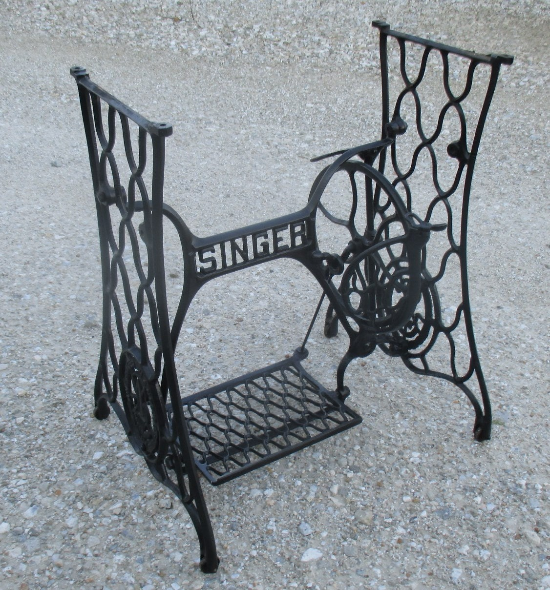 cast iron sewing machine base
