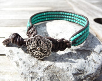 Summery Turquoise Bead Bracelet