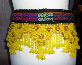 Tribal Beadwork Belt, Vintage,