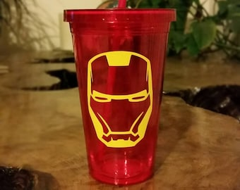 Custom Iron Man tumbler